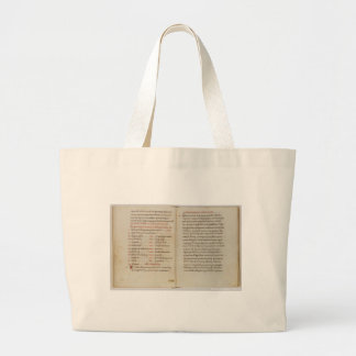 Cookbook Pages Large Tote Bag