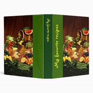 Cookbook Vinyl Binder