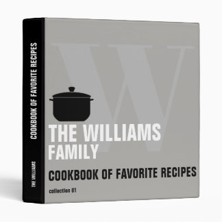 cookbook with cooking pan for family recipes binder