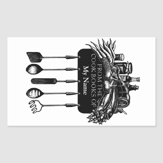 Cookbooks Bookplate Sticker