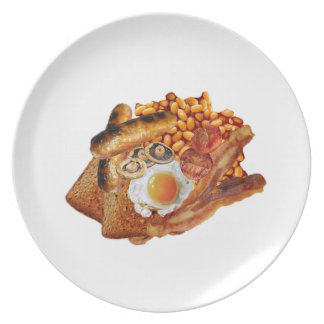 Cooked Breakfast Dinner Plate