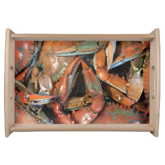Cooked Crabs Serving Tray