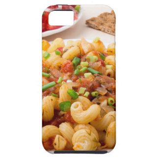 Cooked pasta cavatappi with stewed vegetable sauce case for the iPhone 5