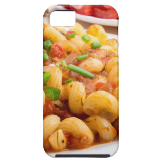 Cooked pasta cavatappi with vegetables sauce iPhone 5 cover