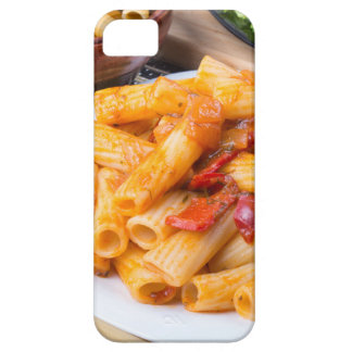 Cooked rigatoni pasta, seasoned with pepper iPhone 5 covers