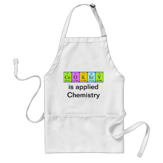 Cookery periodic table apron