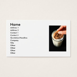 Cookie and a Glass of Milk Business Card