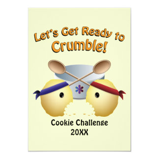 """Cookie Baking Competition 5"""" X 7"""" Invitation Card"""