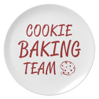 Cookie Baking Team 2 Dinner Plates
