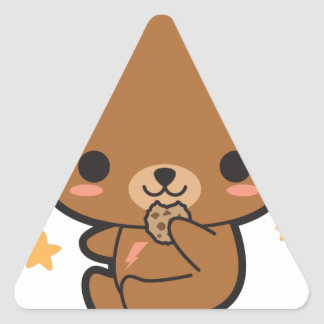 Cookie Bear Triangle Sticker