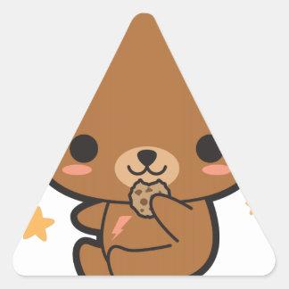 Cookie Bear Triangle Sticker