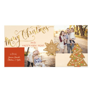 Cookie-cutter Christmas Greeting Card Photo Card