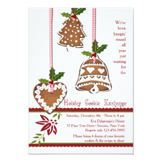 Cookie Decorations Swap Party Card