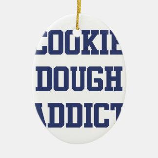 Cookie Dough Addict Ceramic Ornament