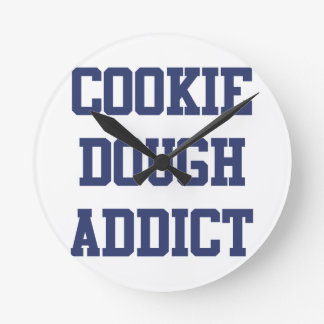 Cookie Dough Addict Round Clock