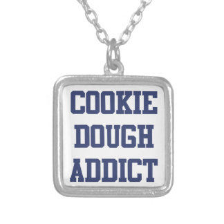 Cookie Dough Addict Silver Plated Necklace
