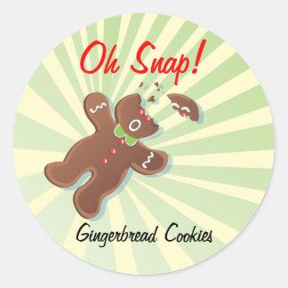 Cookie Exchange Bake Sale Labels Round Sticker