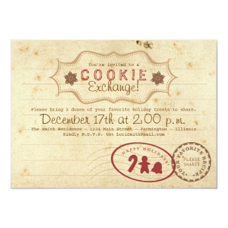 Cookie Exchange Recipe Card Invitation