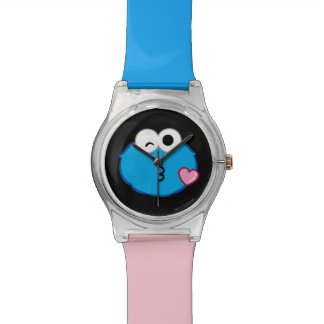 Cookie Face Throwing a Kiss Wrist Watch