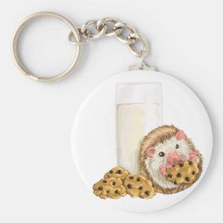 Cookie Hog Basic Round Button Keychain