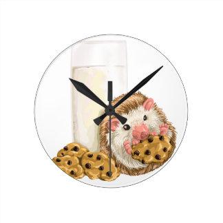 Cookie Hog Round Clock