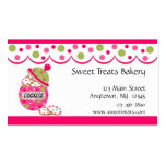 Cookie Jar, Pink Double-Sided Standard Business Cards (Pack Of 100)