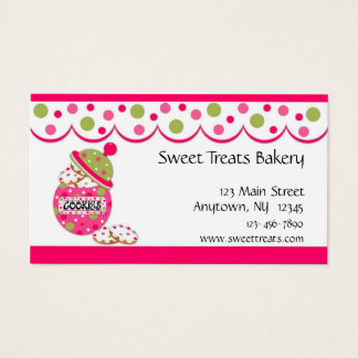 Cookie Jar, Pink Business Card
