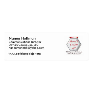 Cookie Jar Profile Card Pack Of Skinny Business Cards