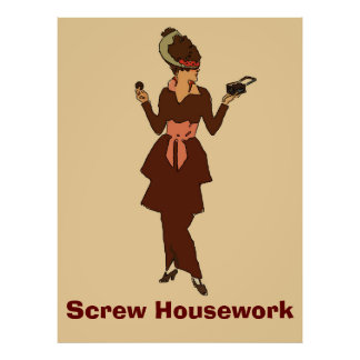 Cookie Lady, Screw Housework Poster