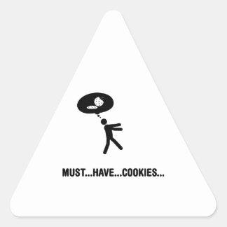 Cookie Lover Triangle Sticker