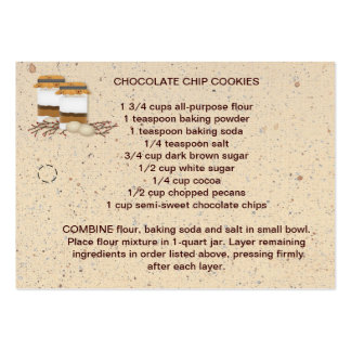 Cookie Mix In A Jar Recipe Tag Pack Of Chubby Business Cards