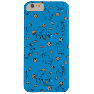 Cookie Monster and Cookies Blue Pattern Barely There iPhone 6 Plus Case
