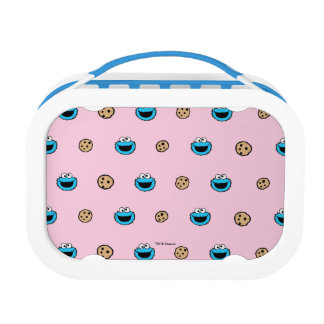 Cookie Monster and Cookies Pink Pattern Lunch Box
