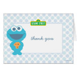 Cookie Monster Baby Birthday Thank You Note Card