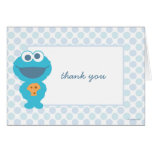 Cookie Monster Baby Shower Thank You Note Card