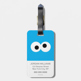 Cookie Monster Big Face Luggage Tag