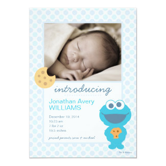 Cookie Monster Birth Announcement