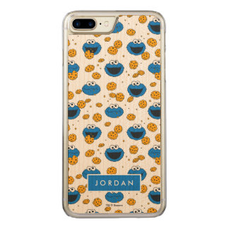 Cookie Monster | C is for Cookie Pattern Carved iPhone 8 Plus/7 Plus Case