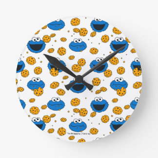 Cookie Monster | C is for Cookie Pattern Round Clock