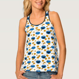 Cookie Monster | C is for Cookie Pattern Tank Top