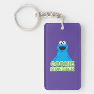 Cookie Monster Character Art Double-Sided Rectangular Acrylic Keychain