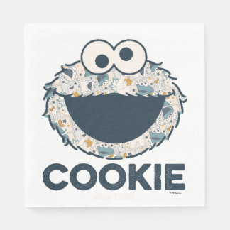 Cookie Monster   Cookie Since 1969 Disposable Napkin