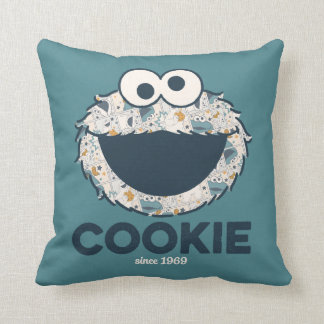 Cookie Monster | Cookie Since 1969 Throw Pillow