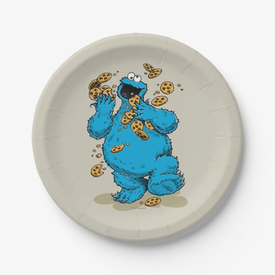 Cookie Monster Crazy Cookies 7 Inch Paper Plate
