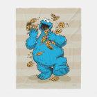 Cookie Monster Crazy Cookies Fleece Blanket