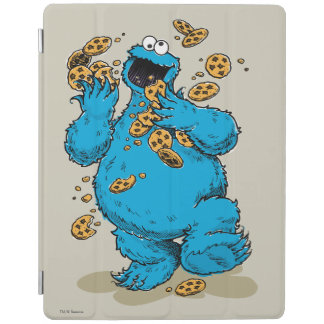 Cookie Monster Crazy Cookies iPad Cover