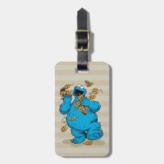 Cookie Monster Crazy Cookies Luggage Tag