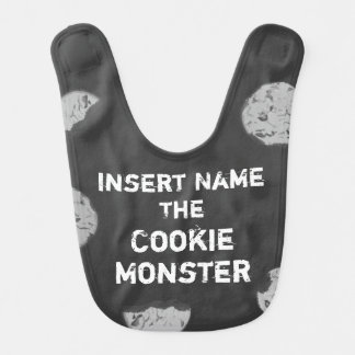Cookie Monster Customizable Chalkboard Bib