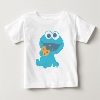 Cookie Monster Eating Cookie Baby T-Shirt