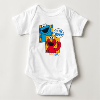 Cookie Monster & Elmo | Ha Ha Yeah Baby Bodysuit